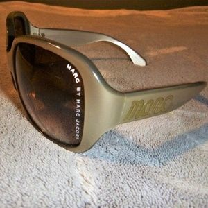 Marc by Marc Jacobs Sunglasses with Case, Tan/Gold